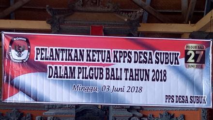 Mejaya Jaya Jaya dan Pengambilan Sumpah KPPS Desa Subuk Tahun 2018