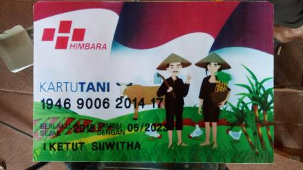 Kartu Tani untuk Petani Subak Gebang Desa Subuk
